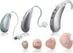 ■耳かけ型や耳あな型などタイプもいろいろの補聴器